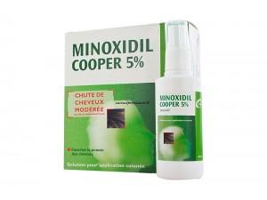 MINOXIDIL 5 % COOPER - 3 FLACONS