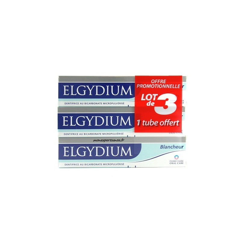 elgydium dentifrice blancheur tube 75 ml lot de 3 pharmacie en ligne. Black Bedroom Furniture Sets. Home Design Ideas