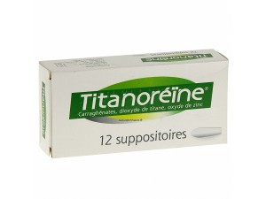 TITANOREINE SUPPOSITOIRES CRISES HEMORROIDAIRES BTE DE 12