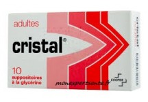 SUPPOSITOIRES A LA GLYCERINE ADULTES CRISTAL BTE DE 10