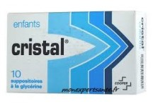 SUPPOSITOIRES A LA GLYCERINE ENFANTS CRISTAL BTE DE 10