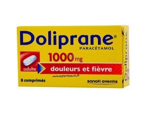DOLIPRANE 1000MG ADULTE BOITE DE 8 COMPRIMES