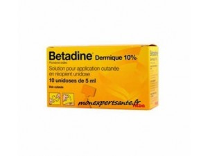 BETADINE DERMIQUE 10% - 10 UNIDOSES 5ML
