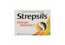 STREPSILS ORANGE VITAMINE C MAUX DE GORGE 24 PASTILLES