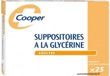 SUPPOSITOIRES A LA GLYCERINE COOPER ADULTES  BTE DE 25