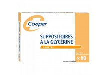 SUPPOSITOIRES A LA GLYCERINE COOPER ADULTES BTE 50