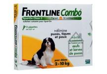 FRONTLINE COMBO SPOT-ON CHIEN 2 A 10KG, BTE DE 3