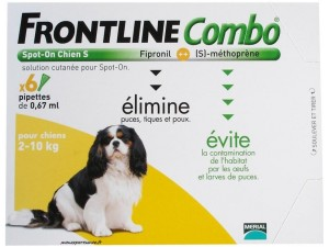 FRONTLINE COMBO SPOT-ON CHIEN 2 A 10KG BTE 6 PIPETTES