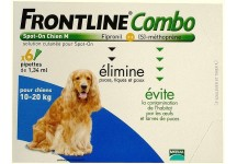 FRONTLINE COMBO SPOT-ON CHIEN 10 A 20KG BTE 6 PIPETTES