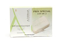 PAIN DERMATOLOGIQUE ADERMA LOT DE 2X100GR