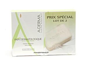 PAIN DERMATOLOGIQUE ADERMA LOT DE 2X100GR