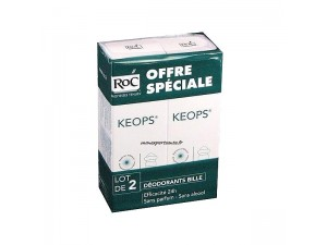 ROC KEOPS DEODORANT A BILLE LOT DE 2