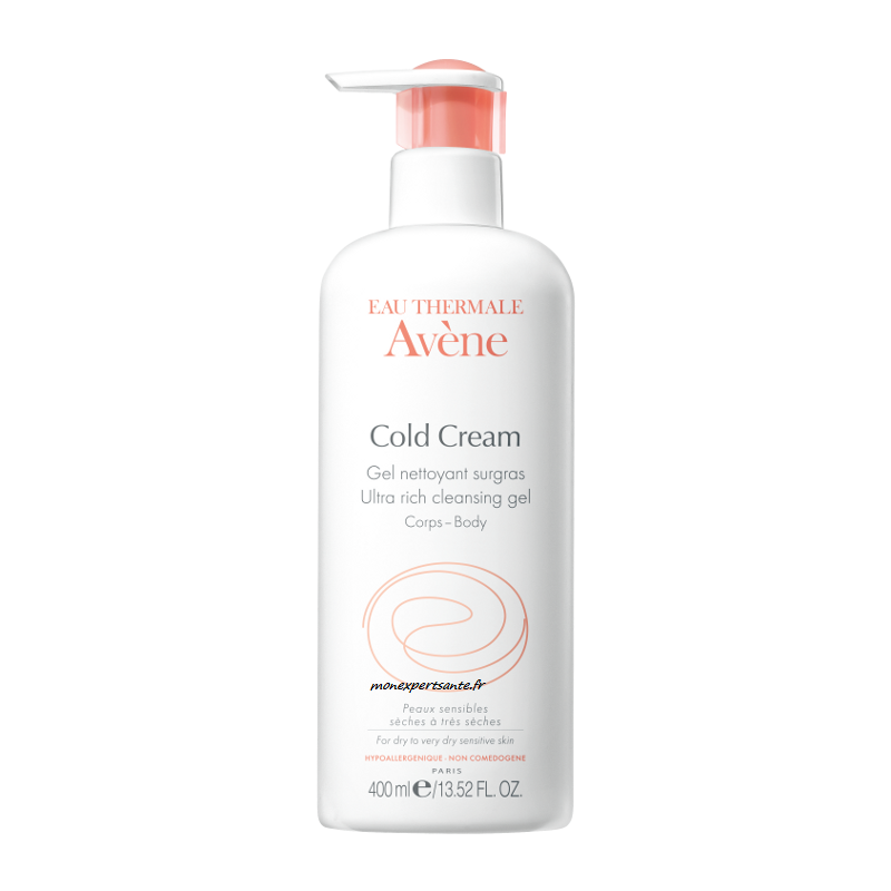 avene cold cream gel nettoyant surgras flacon 400 ml pharmacie en ligne. Black Bedroom Furniture Sets. Home Design Ideas