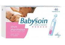 SERUM PHYSIOLOGIQUE BABYSOIN BOITE DE 40 UNIDOSES