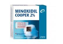 MINOXIDIL 2% COOPER 3 flacons de 60ml