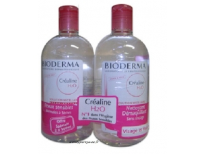 BIODERMA CREALINE H2O LOT DE 2 FLACONS 500ML
