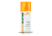SOLEILBIAFINE LAIT SPRAY SOLAIRE HAUTE TOLERANCE FPS 50+ FLACON 200ML