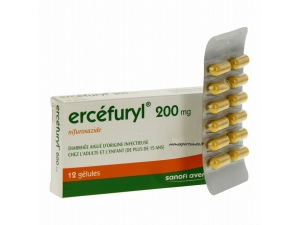 ERCEFURYL 200MG DIARRHEE INFECTIEUSE BTE 12
