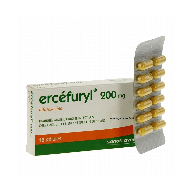 ercefuryl 200mg diarrhee infectieuse bte 12 pharmacie en. Black Bedroom Furniture Sets. Home Design Ideas