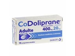 CODOLIPRANE PARACETAMOL CODEINE 400MG/20MG 16 CPR