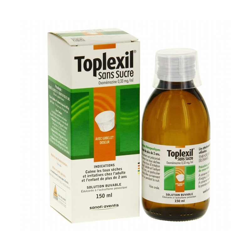 toplexil sirop toux seche sans sucre des 2 ans 150ml pharmacie. Black Bedroom Furniture Sets. Home Design Ideas