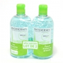 BIODERMA SEBIUM H2O SOLUTION MICELLAIRE VISAGE LOT 2X500ML
