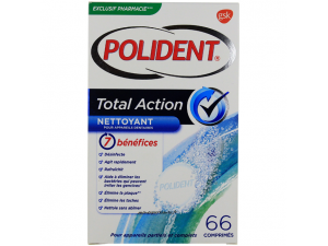 POLIDENT TOTAL ACTION 66 COMPRIMES EFFERVESCENTS