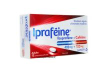 IPRAFEINE IBUPROFENE CAFEINE DOULEURS AIGUES 400MG/100MG 12 COMPRIMES