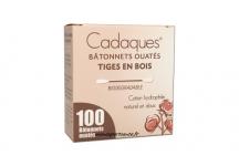 CADAQUES 100 BATONNETS OUATES TIGES EN BOIS