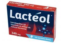 LACTEOL 340MG 10 SACHETS DOSES