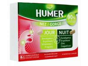 HUMER NEZ GORGE COMPRIMES JOUR ET NUIT TRAITEMENT DE 5 JOURS