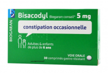 BISACODYL 5 MG BIOGARAN 30 COMPRIMES
