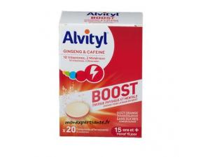 ALVITYL BOOST GINSENG ET CAFEINE 20 COMPRIMES EFFERVESCENTS
