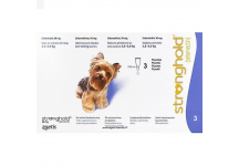 STRONGHOLD 60MG CHIEN 5,2 KGS A 10KGS 3 PIPETTES